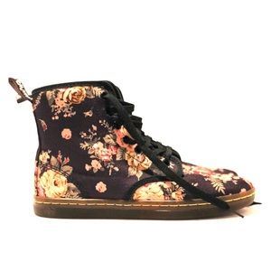 Doc Marten Floral Shoreditch Canvas Boots UK 5 US7